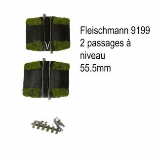 2 passages à niveau -N-1/160-FLEISCHMANN 9199