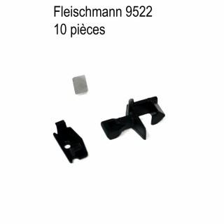 10 attelages avec lamelle et capot-N-1/160-FLEISCHMANN 9522