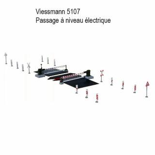 Passage à niveau électrique à moteur lent-HO-1/87-VIESSMANN 5107
