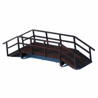 Petit pont pour piétons en bois à monter -HO-1/87-SAI 705