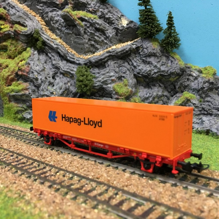 Wagon porte conteneurs Cargo DB Hapag-Lloyd epV -HO-1/87-PIKO 57700