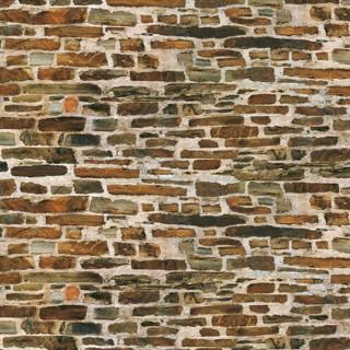 Plaque cartonnée mur de pierres -HO-1/87-AUHAGEN  50515