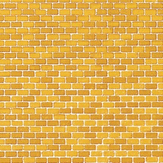 Plaque cartonnée mur de briques jaune -HO-1/87-AUHAGEN 50510