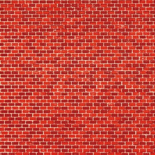 Plaque cartonnée mur brique rouge -HO-1/87-AUHAGEN 50504