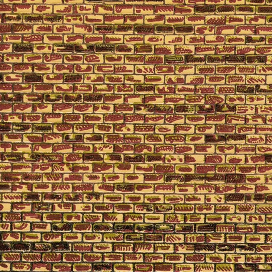Plaque cartonnée mur de brique-HO-1/87-AUHAGEN 50501