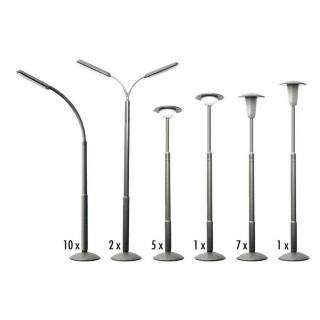 26 lampadaires en 6 modèles non fonctionnels-HO-1/87-FALLER 180538