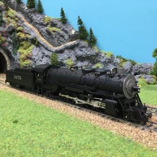 Locomotive AT&SF 2-10-2 ptd & lettered digital son HO-1/87-BROADWAY L DEP17-51