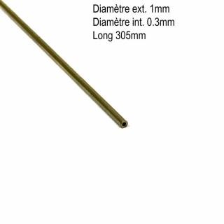 Tube laiton 1mmx0.30mm longueur 305mm-ALBION ALLOYS BT1M