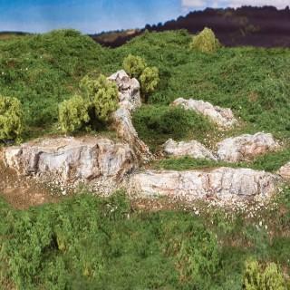 13 petits rochers accidentés pour diorama -HO et N-WOODLAND SCENICS C1139
