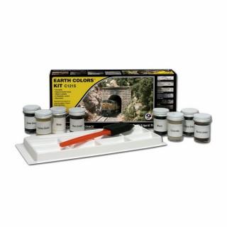 8 pots terre à décors avec outil pour diorama -WOODLAND SCENICS C1215