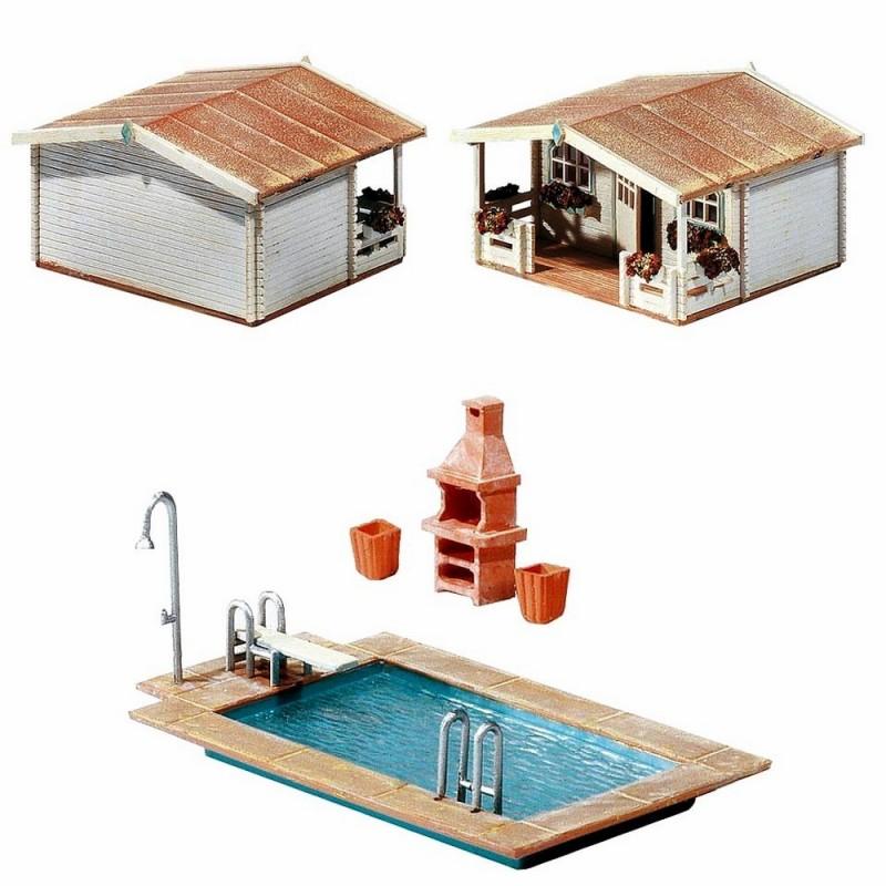 Piscine pool house accessoires ho faller 180542 for Accessoire piscine belgique