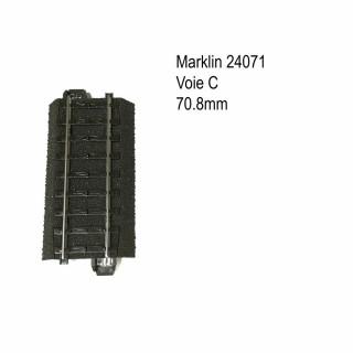 Rail droite 70.8mm voie C-HO-1/87-MARKLIN 24071