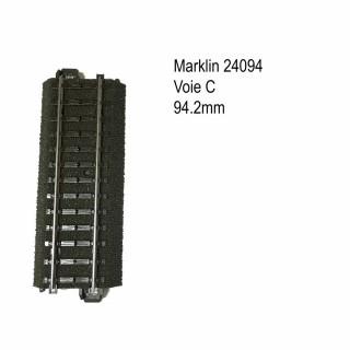Rail droite 94.2mm voie C-HO-1/87-MARKLIN 24094