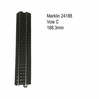 Rail droite 188.3mm voie C-HO-1/87-MARKLIN 24188