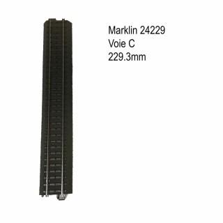 Rail droite 229.3mm voie C-HO-1/87-MARKLIN 24229