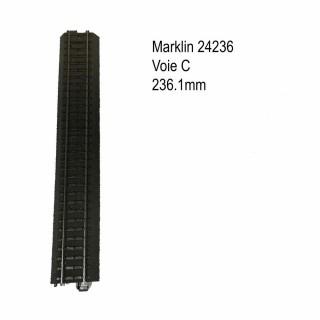 Rail droite 236.1mm voie C-HO-1/87-MARKLIN 24236