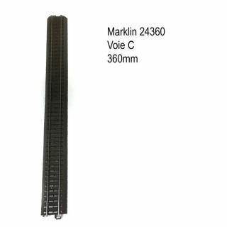 Rail droite 360mm voie C-HO-1/87-MARKLIN 24360