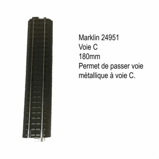 Rail droite 180mm voie métallique à voie C-HO-1/87-MARKLIN 24951