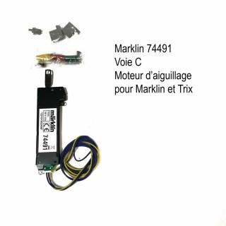 Moteur électrique d'aiguillage pour voie C-HO-1/87-MARKLIN 74491
