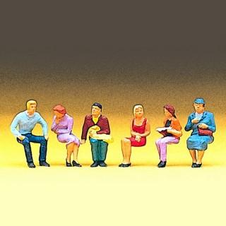 6 personnes assises pour vos dioramas HO-1/87-PREISER 10095