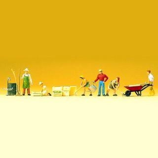 6 jardiniers avec accessoires pour vos dioramas HO-1/87-PREISER 10046