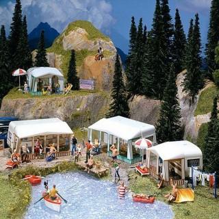 Caravanes et accessoires pour aménagement camping-HO-1/87-FALLER 130503