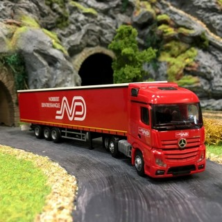Camion semi-remorque MB Actros 2 Norbert Dentressangle-HO-1/87-AWM 75086