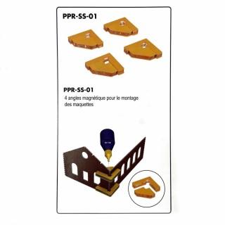 4 angles magnétique pour montage des maquettes-Z/N/TT/HO/OO-PROSES PR-SS-01
