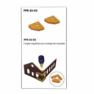 2 angles magnétique pour montage des maquettes-Z/N/TT/HO/OO-PROSES PR-SS-02