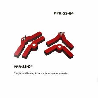 2 angles variables magnétique pour montage des maquettes-Z/N/TT/HO/OO-PROSES PR-SS-04