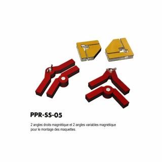 4 angles droit et variables magnétique pour maquettes-Z/N/TT/HO/OO-PROSES PR-SS-05