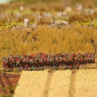 4 haies fleuries rouge Premium-Toutes échelles-1/87-FALLER 181235