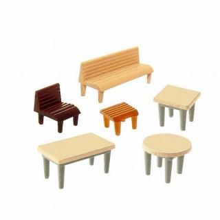 24 chaises, 7 tables et 12 bancs-N-1/160-FALLER 272440
