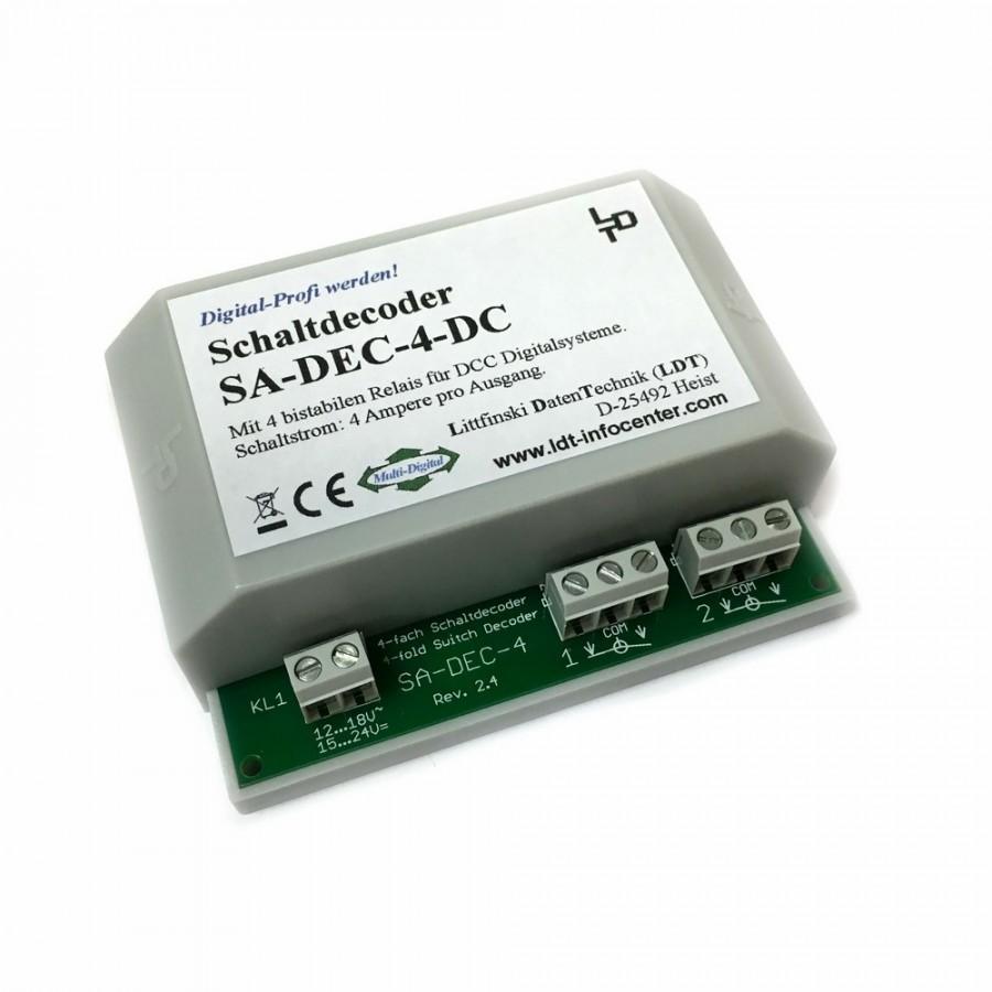 Décodeur d'accessoires 4 sorties -LDT SA-DEC-4-DC