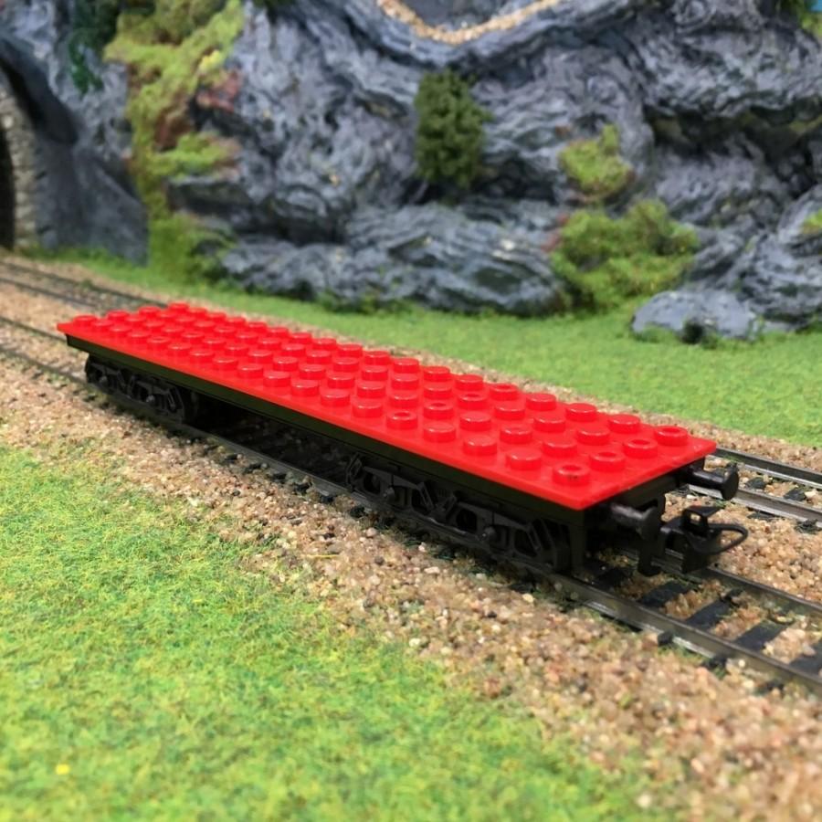 Wagon plat pour brique type Légo -HO-1/87-MARKLIN 44734
