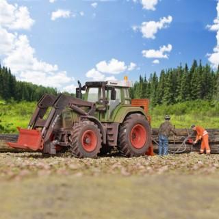 Tracteur forestier débardeur Fendt avec accessoires-HO-1/87-KIBRI 12246