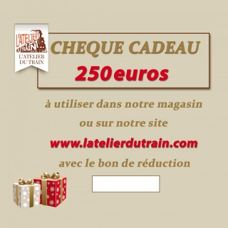 Chèque cadeau 250 euros à offrir