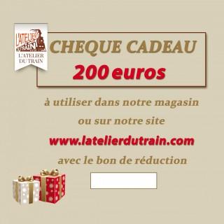 Chèque cadeau 200 euros à offrir