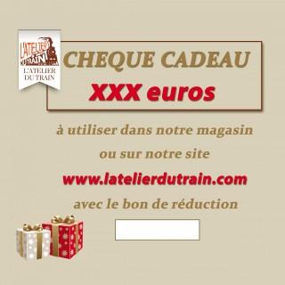 Chèque cadeau xxx euros à offrir