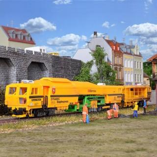Bourreuse niveleuse avec wagon Plasser & Theurer non motorisée -HO-1/87-KIBRI 16090