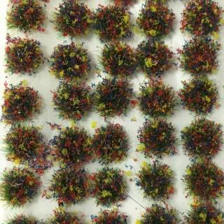 100 touffes d'herbes fleuries -Toutes échelles-PECO PSG-51