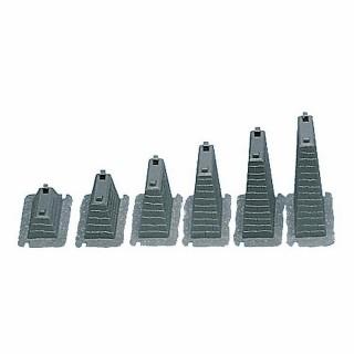 6 piliers pour rampe de 15 à 75mm-HO-1/87-FALLER 120472