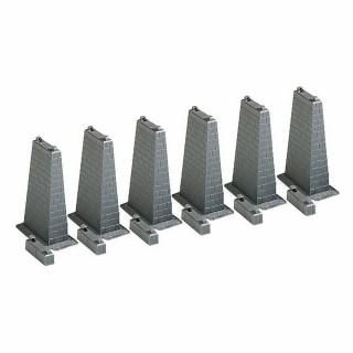 6 piliers 75mm-HO-1/87-FALLER 120473
