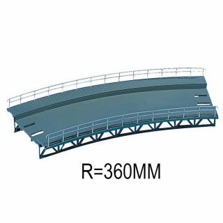 Plan de roulement courbe R 360mm 1 voie-HO-1/87-FALLER 120475