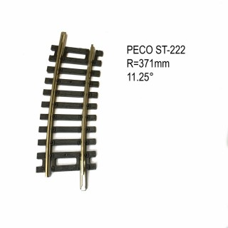Rail Setrack courbe R1 371mm 11.25° code 100-HO-1/87-PECO ST-222