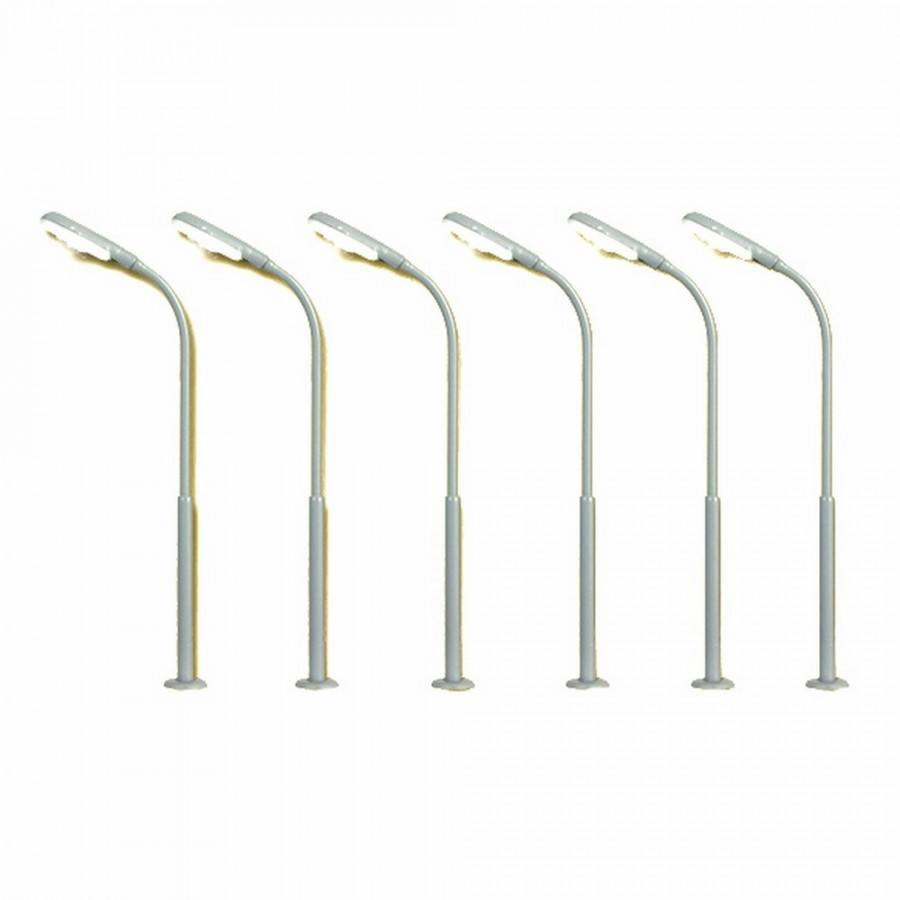 6 lampadaires de rue ou autre-HO-1/87-VIESSMANN 60906