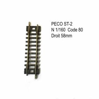 Rail Setrack droite 58mm code 80 -N-1/160-PECO ST-2