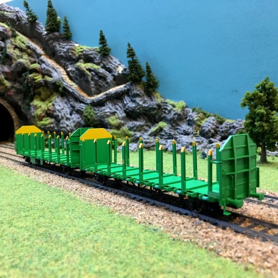 2 wagons Laaps VTG Railtrans transport de bois épVI -HO-1/87-LILIPUT 235241