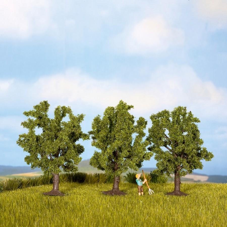3 arbres fruitiers vert haut 80mm- Toutes échelles-NOCH 25110