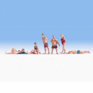 6 personnes à la plage -N-1/160-NOCH 36841